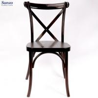 China China Affordable  Wooden  Cross Back Chairs For Hotel/Dining Room wholesale