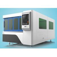 China 1500W Fiber Laser Cutting Machine Single Table With Protection Cover on sale