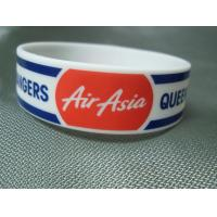 China Trade Show Promotional Items Giveaways Embossed Silicone Wristband Bracelet wholesale