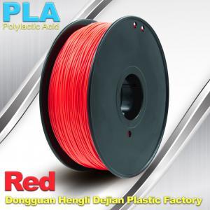 China PLA  Filament, 1.0kg /  roll ,1.75mm / 3.0mm  3D Printer Filament Red colors wholesale