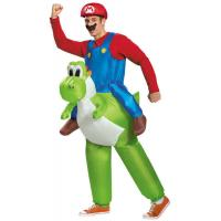 China Super Mario Inflatable Costumes , Adult Fat Inflatable Yoshi Costume wholesale
