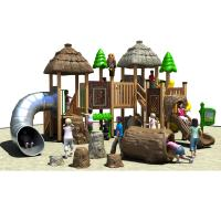 China Durable Outdoor Playground Equipment Enviromental WPC Made In The Tree House Design wholesale