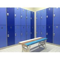 Quality Lightweight Two Tier Lockers , Blue Swimming Pool Lockers H2000 * W933 * D450mm for sale