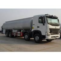 China SINOTRUK HOWO-A7 8x4 Horsepower 371Hp Engine Oil Tank Truck , Oil Tanker Trailer 40m³ / H Pump Flow wholesale