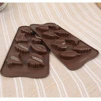 China 3d Custom Hard Leaf Silicone Candy Molds 8 Cavity Light Weight Easy Cleaning wholesale