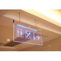China Hanging Clear acrylic led emergency exit guiding sign board wholesale
