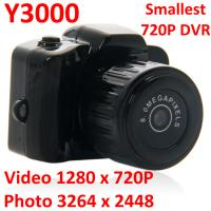 China Y3000 8MP Thumb 720P Mini DVR Camera Smallest Outdoor Sports Spy Video Recorder PC Webcam wholesale