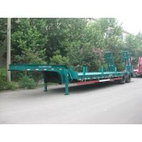 China 35 Tons Semi Low Bed Trailer With Bogie Suspension High Strength Steel wholesale