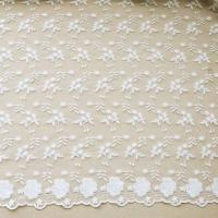 """China 51"""" Width Floral Embroidered Nylon Mesh Lace Fabric For Curtain / Clothing wholesale"""