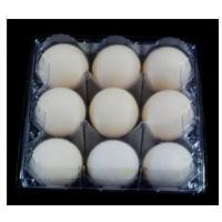 China 9 Cavities Disposable Egg Cartons , PVCclear Egg Tray 41mm Hole For Supermarket on sale
