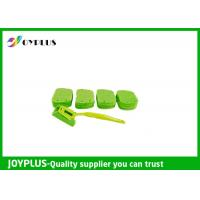 China Kitchen Home Cleaning Tool Dish Cleaning Pads With Long Handle Green Color wholesale
