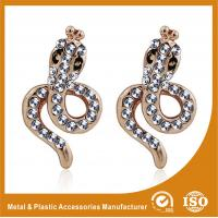 China Simple Design Alloy Gold Rhinestone Earrings Metals Antique Earrings wholesale