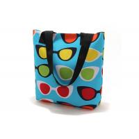 China Leisure Colorful printing canvas shopping bag eco friendly , beach bags wholesale