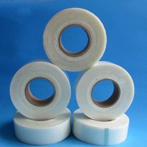 China 9x9 65g/M2 Fiberglass Self Adhesive Tape For Wall Gap Jointing wholesale