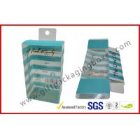 China PETG / PVC Plastic Clamshell Packaging box with hanger , plastic gift boxes wholesale