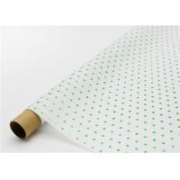 China Fade Resistant Hot Stamping Tissue Paper 17gsm Green Dot For Bouquet wholesale