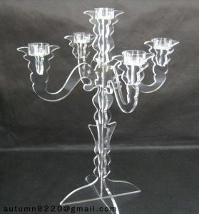 China CH (7) acrylic candlestick holder wholesale