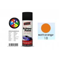 China Matt Orange Color Rubber Based Spray Paint 60 Min Hard Dry With REACH Certificate wholesale