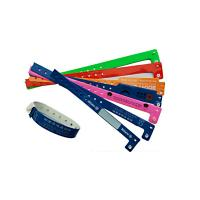China PVC Plastic Identity Recognition Wristbands , Plastic Bracelets For Events Logo Printed wholesale