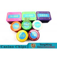 China Multi - Color Print Crystal Casino Poker Chip Set Tough And Durable wholesale