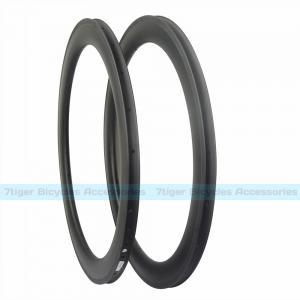 China 7-tiger Disk Bike 60 x 25 mm basalt brake carbon Clincher road rims ud weave matte U shape bicycle wheels wholesale