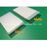 China Protective Matte Lamination Film Business Card Size Laminating Pouches 250 Micron on sale