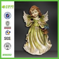 China Polyresin Hand Craft Wing Beautiful Resin Pretty Girl wholesale