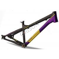China 4X / Slopestyle Bike Frames , 26 Inch Black Bmx Frame With Rear Dropouts on sale