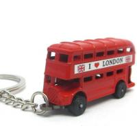China The double decker bus keychain wholesale