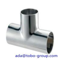 China Super duplex uns s32750 Stainless Steel Tee 1 - 48 inch ASME B16.9 wholesale