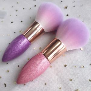 China Single Loose Powder Cosmetics Blush Brush Multi Function Pencil Portable Beauty Tool Rose brush wholesale