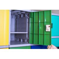 China Employee ABS Plastic Lockers Green 8 Comparts 1 Column Coin Operated Lockers wholesale