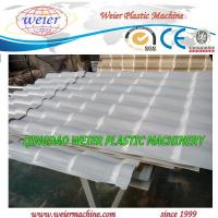 China 350kg output of PVC Corrugated Roofing Sheet Machine with SJSZ80/156 Extruder wholesale