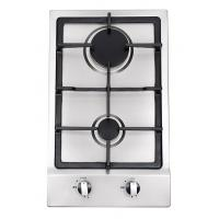 China Built In Stainless Steel 2 Burner Gas Hob , 2 Burner Gas Range With Thermocouple wholesale