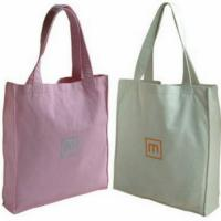China Colorful Promotional 100% Cotton Carrier Bags / Washable Reusable Eco Shopping Bags wholesale