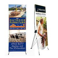 China Advertising x banner standing banner promotional display economic printing x-banner wholesale