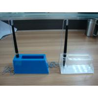 China Acrylic Stationery Holder , Plexiglass Pen Holder With Notes Box wholesale