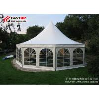 Buy cheap White Hexagon Gazebo Tent For Catering , 50 People Hexagon Party Tent from wholesalers