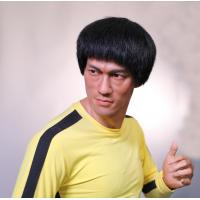 China Kung Fu Star Bruce Lee Wax Figure Life Size Resin Sculpture Item Name Custom Crafts wholesale