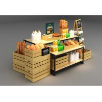 China Wooden Box Combination Design Shop Display Shelving With Metal Frame wholesale