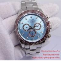 China Replica Rolex Daytona Watch 116506 50th Anniversary Brown Ceramic Ice Blue Dial 42mm on sale