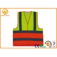Buy cheap Polyester Safe Reflective Strap Vest , Adjustable Custom High Visibility Vests  from wholesalers