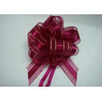 China Organza pull bow ribbon with Long Tulle Tails for Wedding Party Bridal Gift Wrapping wholesale