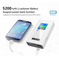 China RJ45 port 4g router with dual sim card slots and 5200mAh power bank wholesale