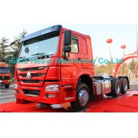 China Red 40 Ton 6x4 Prime Mover Trailer Truck Diesel 336HP , EURO II Standard , Global Machine wholesale