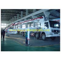 China 42m boom Concrete Pump Vehicle with HOWO Chassis and Pipe-valve wholesale