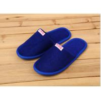 China Comfortable Cotton Velour Disposable Hotel Slippers , Terry Cloth Flip Flop Slippers wholesale
