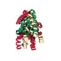 China Red , Green , White Color Combinations Curling Ribbon Bow , PP Metallic curled ribbon wholesale