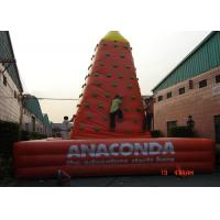 Quality Customized Inflatable Sports Games Plastic Kids Rock Climbing Wall EN71 for sale