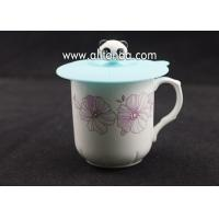 China Anti-dust, Airtight Seal Food Grade Silicone Drink Cup Lids Hot Cup Lids Creative bear Mug Cover wholesale